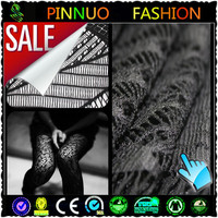 2014 fashion black sheer lace fabric for dress