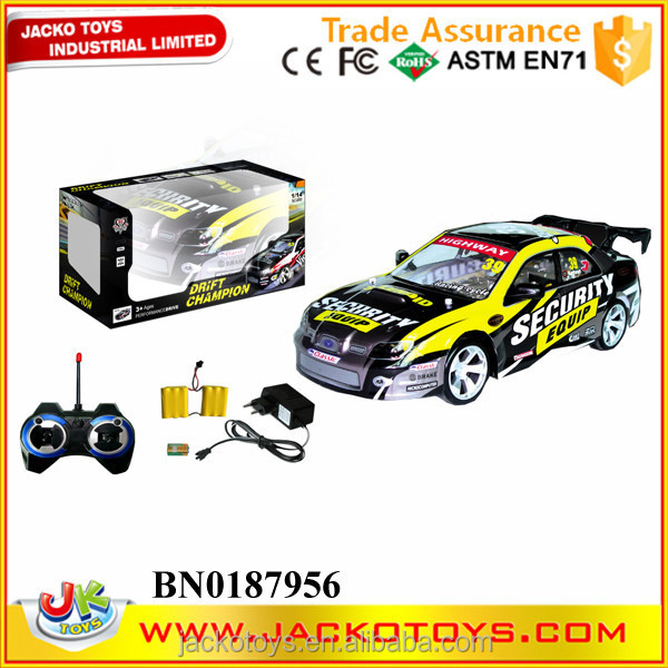 4CH 4WD high-speed rc car ,rc drift car with PVC car shell , light,charger