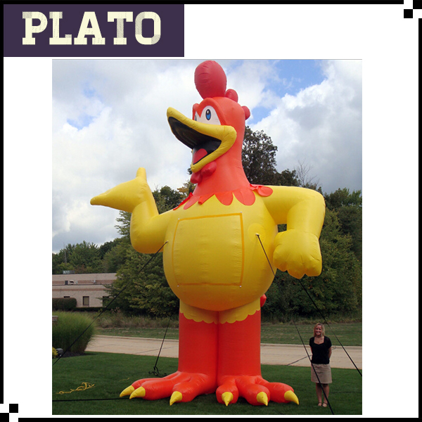custom inflatable chuckle chicken/giant inflatable turkey/promotional chicken model