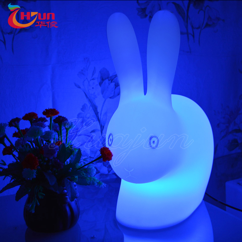 Plastic battery toy rabbit reading lamp for kids