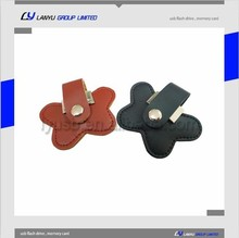 Leather flash drive usb, Customed logo usb flash drive wholesale