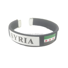 Manufacturers wholesale Syria National Flag Armband Hand Made Fabric Woven Syria Armband Souvenir Syria Country Flags Armband