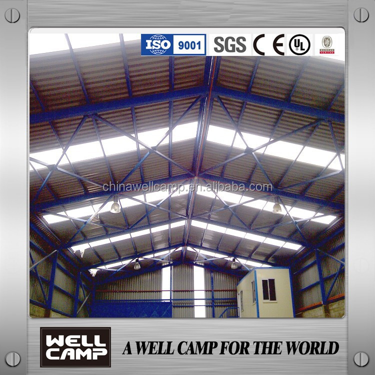 Steel sheet simple reflexable Prefab warehouse/ Steel Structure In indonesia