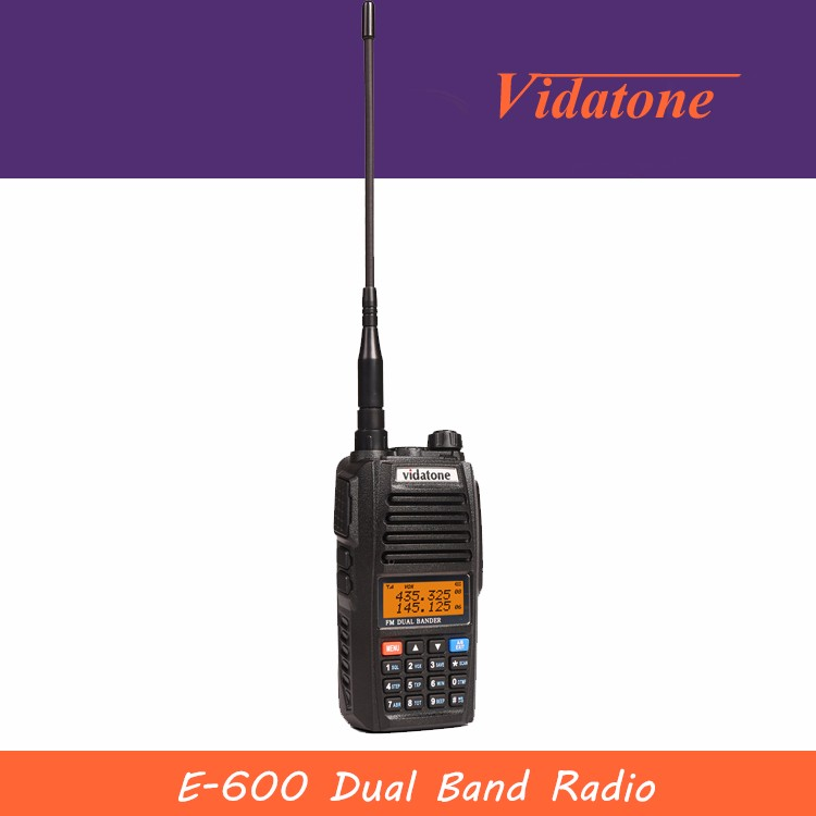 Vidatone-E600 5W Long Distance Dual Band Two Way Radio With VHF / UHF