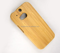 Carbonized bamboo cell phone case for HTC M8 wood phone cover