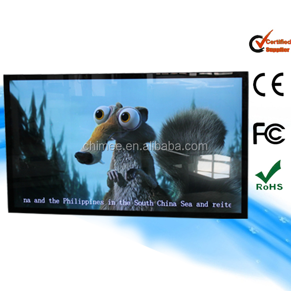47inch wall mounting vertical tv screen dvd hd real display ad player