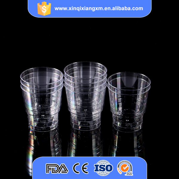 Custom logo size and color high quality clear disposable plastic airline cup