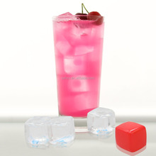 2016 New Reusable plastic ice cubes/ Transparent plastic fake ice cubes