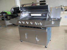 Full stainless steel 6 burner industrial barbecue gas grill