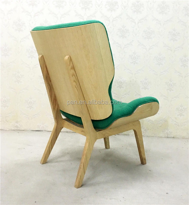 Modern classic sculptural curves traditional winged Limited Edition Mammoth leather Chair
