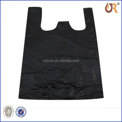 custom t shirt printing plastic trash bag black carrier t-shirt bag