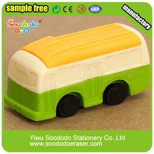 Transport School 3D Bus Shaped Eraser For Children