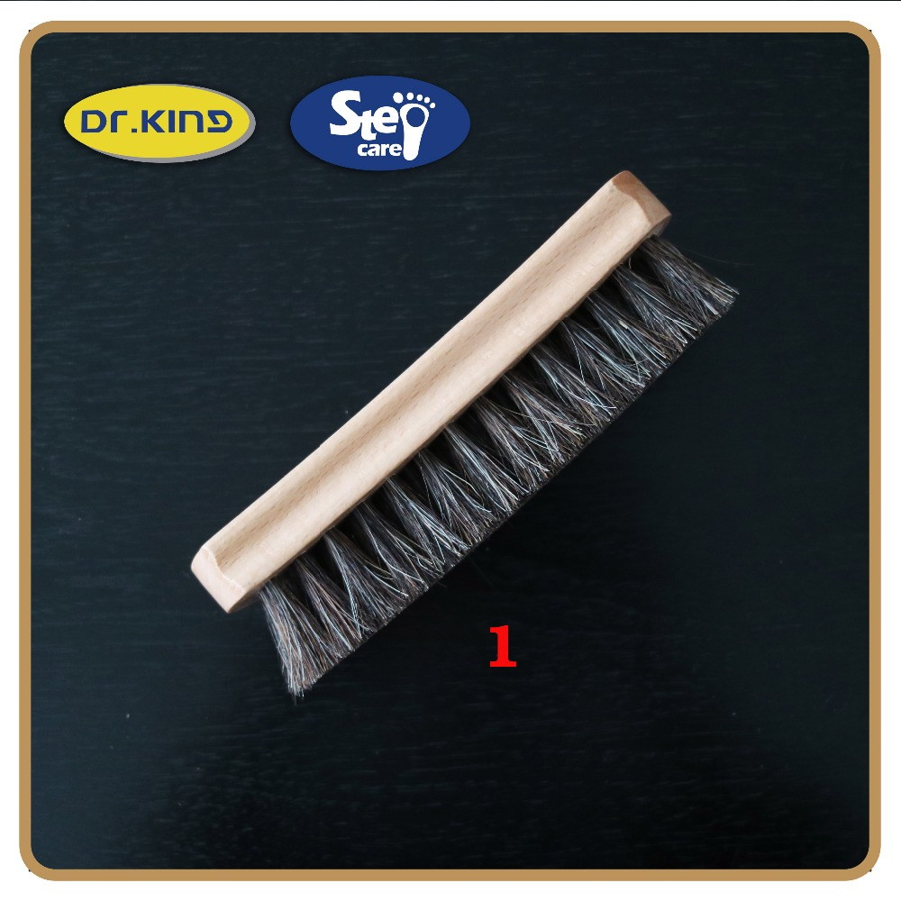 Shoe cleaning natural beech animal wooden shoe brush