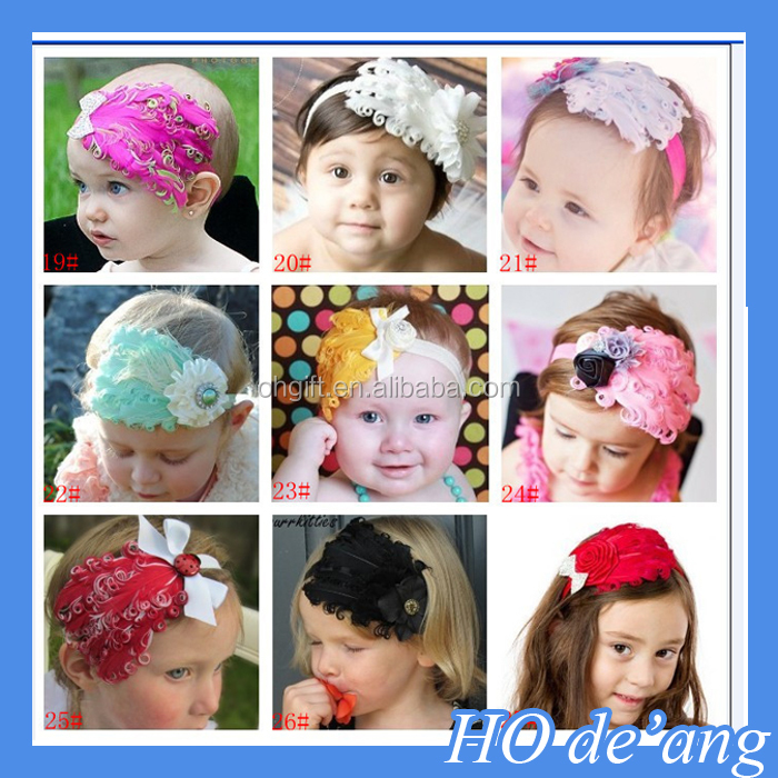 HOGIFT TOP Selling Flower Headbands Childrens Hair Accessories