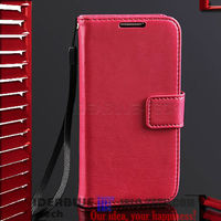 MAGNETIC BUTTON LEATTHER PHONE CASE FOR SAMSUNG GALAXY S4 MINI i9190 CARD POCKET PU LEATHER FLIP CASE COVER