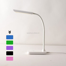 5w Flexible neck dimmable touch modern office rechargable led table lamp