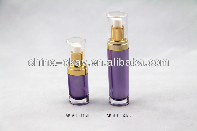 Oval Lotion Bottle Elegant Cosmetic Set/Luxury Gold Cosmetic Packaging 15ml 30ml