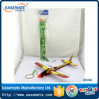 The ejection toys catapult flying glider rubber powered plane