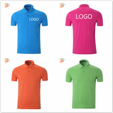 Polo / Golf Shirts dry fit Polyester / cotton Material Cheap colorful mens polo tshirts