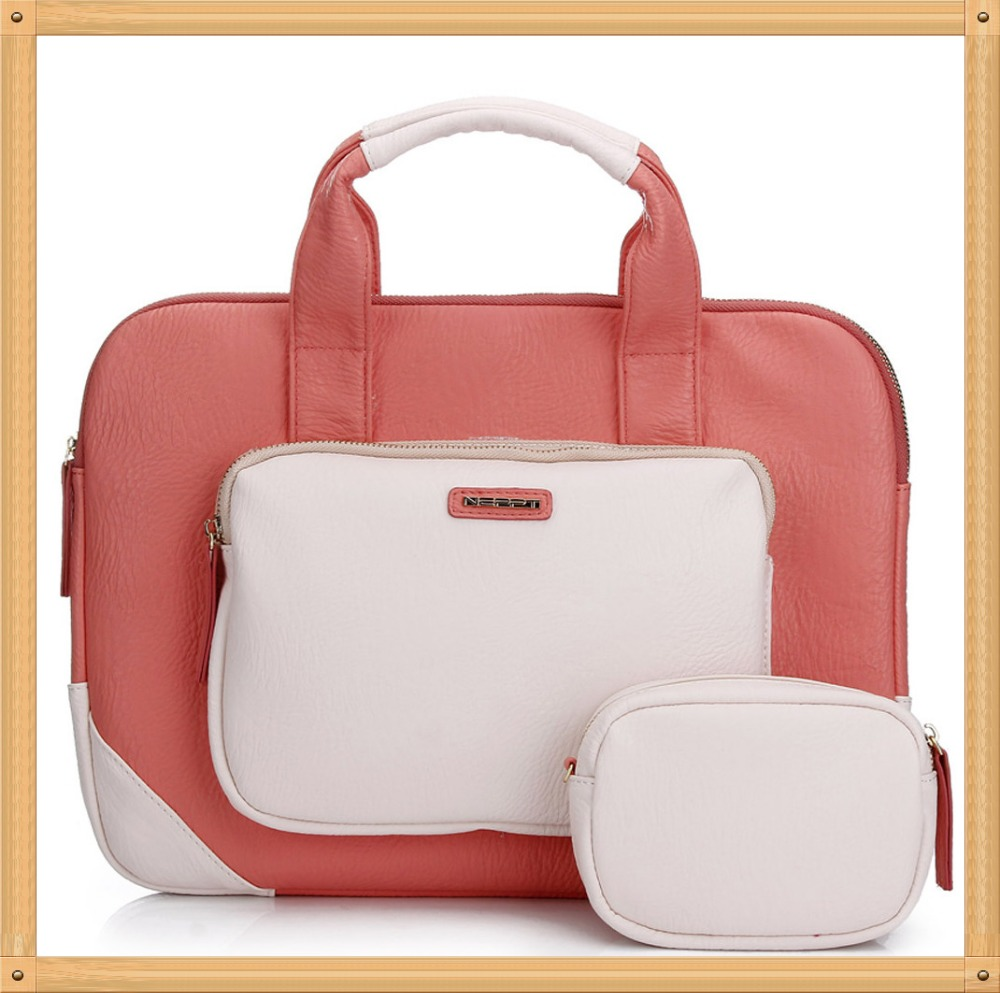 laptop bags for women 13.3/14 inch pink cute notebook tablet sleeves briefcase bag laptop messenger bag