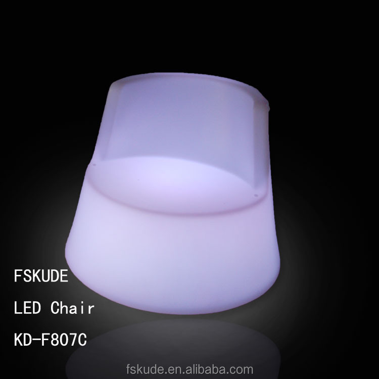 RGB rechargeable plastic led furniture design led coffee chair with led inside