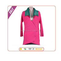 Long sleeve fashion wholesale stylish coat design italy pleats jacket