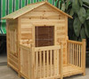 High Quality Prefabricated Wooden Pet House in Russia Logs