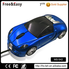 Mini optical USB 3d wired car shaped mouse