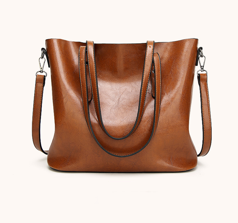 DM 414 wholesale ladies leather big bag fashion blank should brown handbags