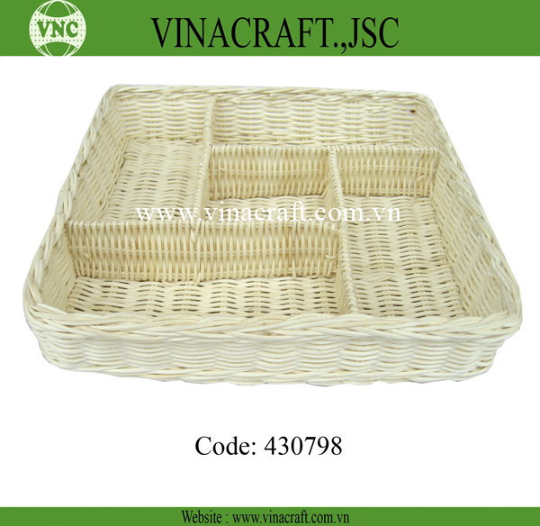 Rattan baskets wholesale with compartment
