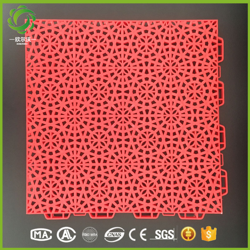 Xinerwo 100% new pp synthetic good costs interlocking outdoor sport court basketball flooring