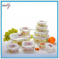 Wholesale Clear Vycol/pyrex Glass Lunch Box