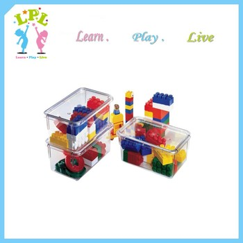 LPL eco friendly high quality organization transparent square plastic box