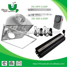 hydroponic lighting double ended reflector/ 1000w double ended hps lamp/ grow light 8 inch double ended reflector