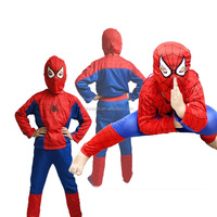 Wholesale Halloween superhero costumes kids spiderman children clothes