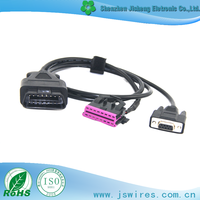 Customize OBDII Cable Male to Female Cable DB 9pin Auto Diagnostic Cable