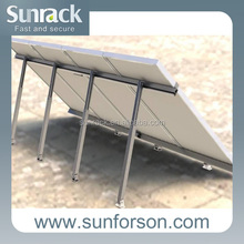 flat roof solar panel mounting for photovoltaic system