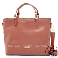 BELLUCY Coral Red 100% Real Leather Shoulder Bag