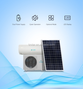 CE approval  solar air conditioner   5000 Power (W)   18000btu   AC DC hybrid  split wall  Solar  Air Conditioner  price