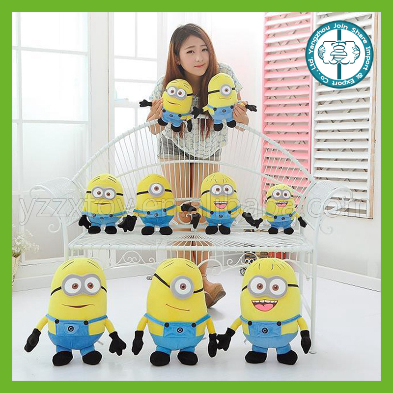 new cartoon movie Yellow Minions 3d eye yellow plush toys despicable me doll