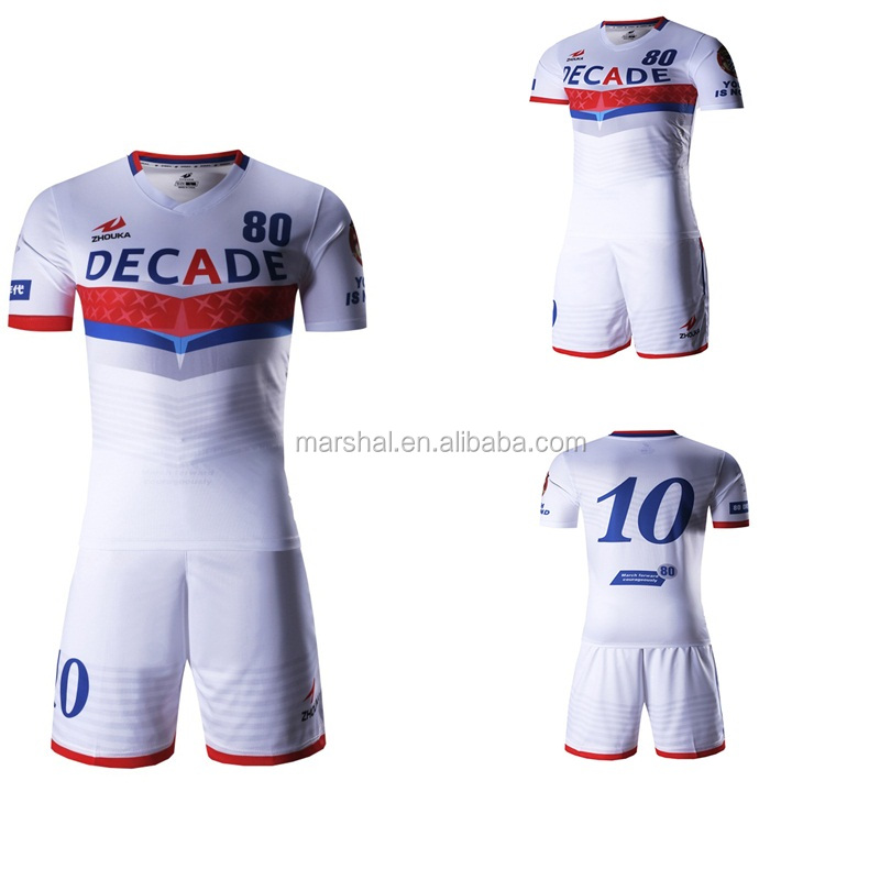 Men's sublimation custom thailand quality football jerseys, hot sale