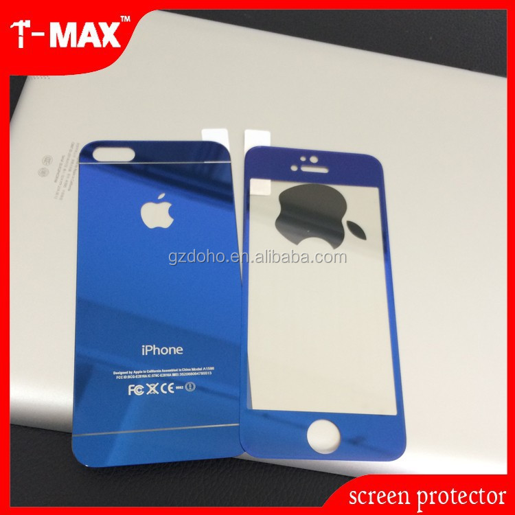 9h hardness color tempered glass screen protector for iphone5 &iphone4