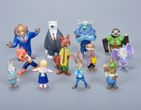 12pcs/Set 4-8cm Zootopia Action Figure Doll Cartoon Utopia Movie Pvc Mini Models Nick Fox Judy Rabbit Movie Doll Toy For Kids