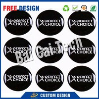 Custom PVC Sticker Type and fridge magnet style epoxy waterproof 3d dome resin sticker