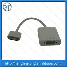vga connector new Dock Connector to VGA HDTV LCD Projector Adapter Cable Cord for iPad 2 3 for iPhone 4 4S for iPod Wholesale