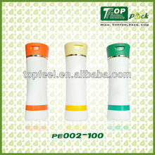 Plastic bottle cosmetics containers