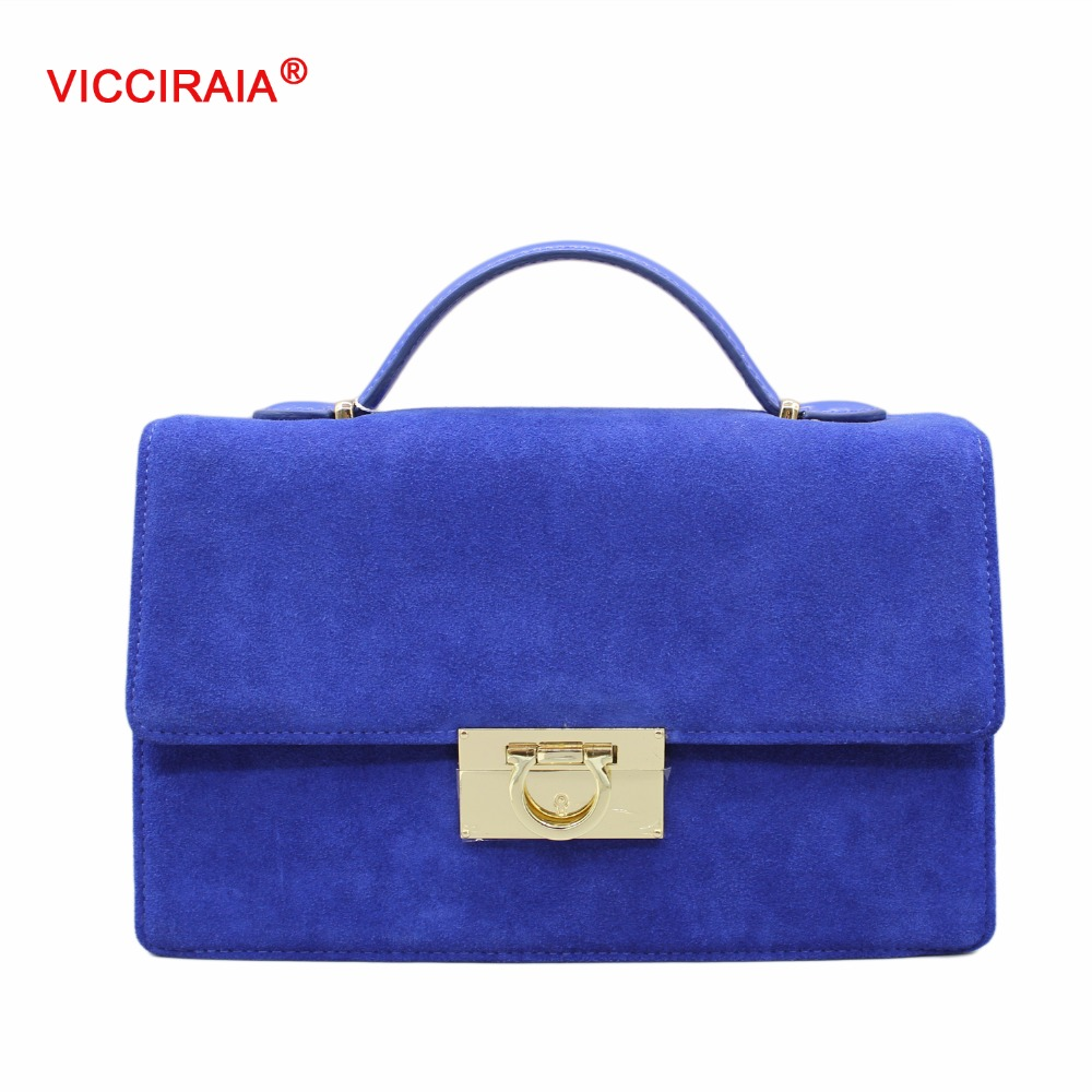 VICCIRAIA Fashion Imitation Leather Women Handbag Luxury PU Lady Crossbody Bags Blue/Black