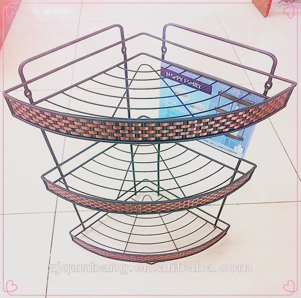 2015 hot sale metal 2-layer bathroom wire rack