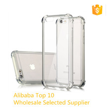 TPU Material Transparent Crystal Shockproof Phone Case for iPhone 6 6s Plus,cover for iphone 7