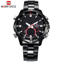2016 Naviforce Men's Sports Watches Men Steel Quartz Wristwatch Waterproof